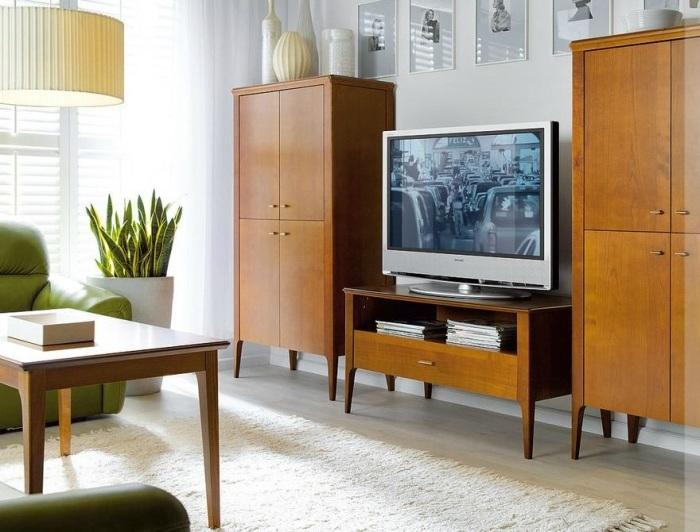 Ретро-мебель в гостиной.