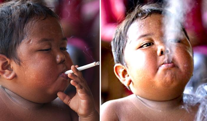 Семь лет спустя: что случилось с 2-летним малышом, который выкуривал по 40 сигарет в день