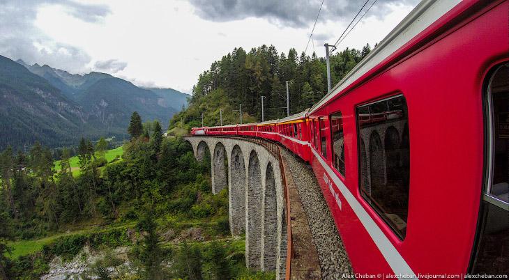 Самые красивые в мире железные дороги: Швейцария