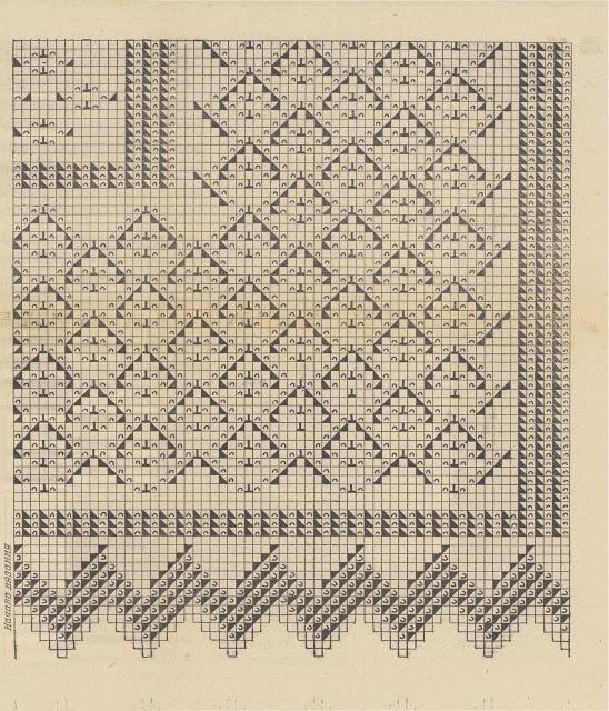 Красивые шали вязанные спицами со схемами и описанием