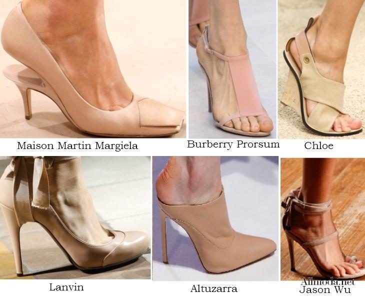 3b68a3bb15da Самая модная обувь весны-2014: плетеная кожа, туфли цвета пудры и скошенный  каблук