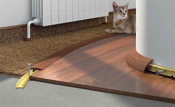 Как скрыть стык между плиткой и ламинатом?