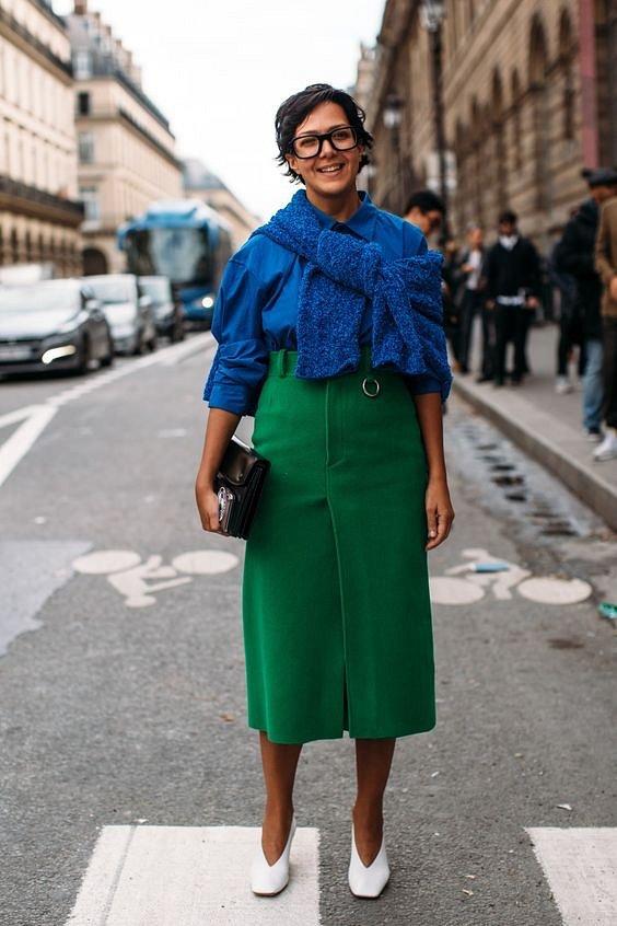 Как носить синий - самый модный цвет 2020 года фото №28