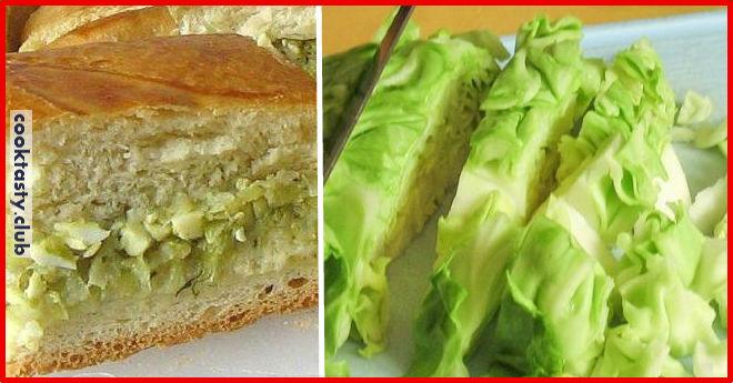 Сытный пирог из капусты
