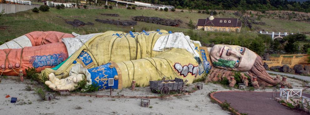 Заброшенный парк развлечений «Гулливер» в Японии просто захватывает дух заброшенные места