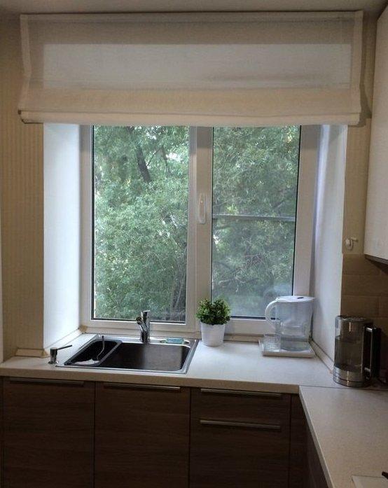 17. Еще раз про подоконник: благодаря ему в кухне и появился стол дизайн, идеи дизайна, интерьер, кухня, маленькая кухня