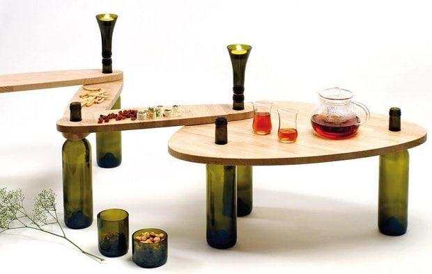 20 стильных предметов интерьера, сделанных стеклянных бутылок