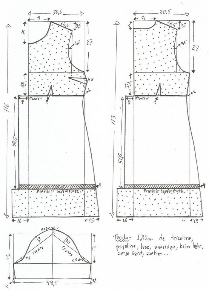 Платье - бохо. Выкройка для платья в русском стиле