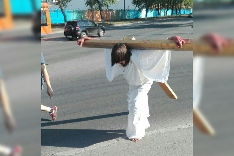 В центре Перми полиция задержала Иисуса Христа
