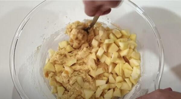 Рецепт быстрого яблочного печенья сладкая выпечка