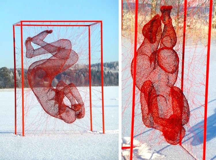 Экспрессивные проволочные скульптуры Нади Зубаревой