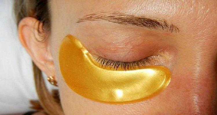 Золотая маска для кожи вокруг глаз!