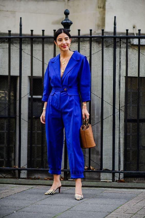 Как носить синий - самый модный цвет 2020 года фото №23