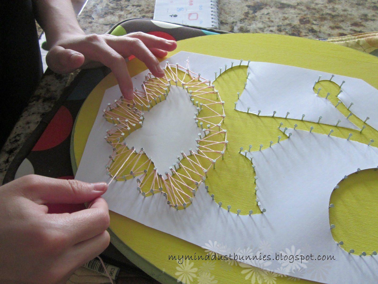 Стринг-арт: мастер-классы для начинающих, эскизы и схемы рукоделие,стринг-арт