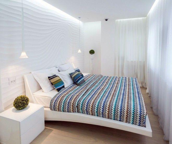 дизайн маленькой спальни текстиль