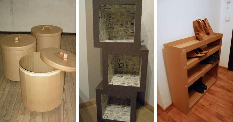 17 гениальных идей для дома из обыкновенного картона