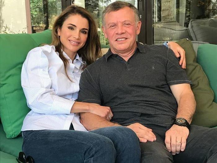 Рания с мужем, королем Иордании, 2017 | Фото: starigers.ru