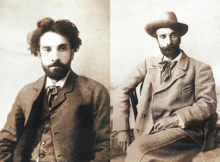 Слева – И. Левитан, фото 1884 г. Справа – И. Левитан, фото 1890 г.   Фото: persones.ru