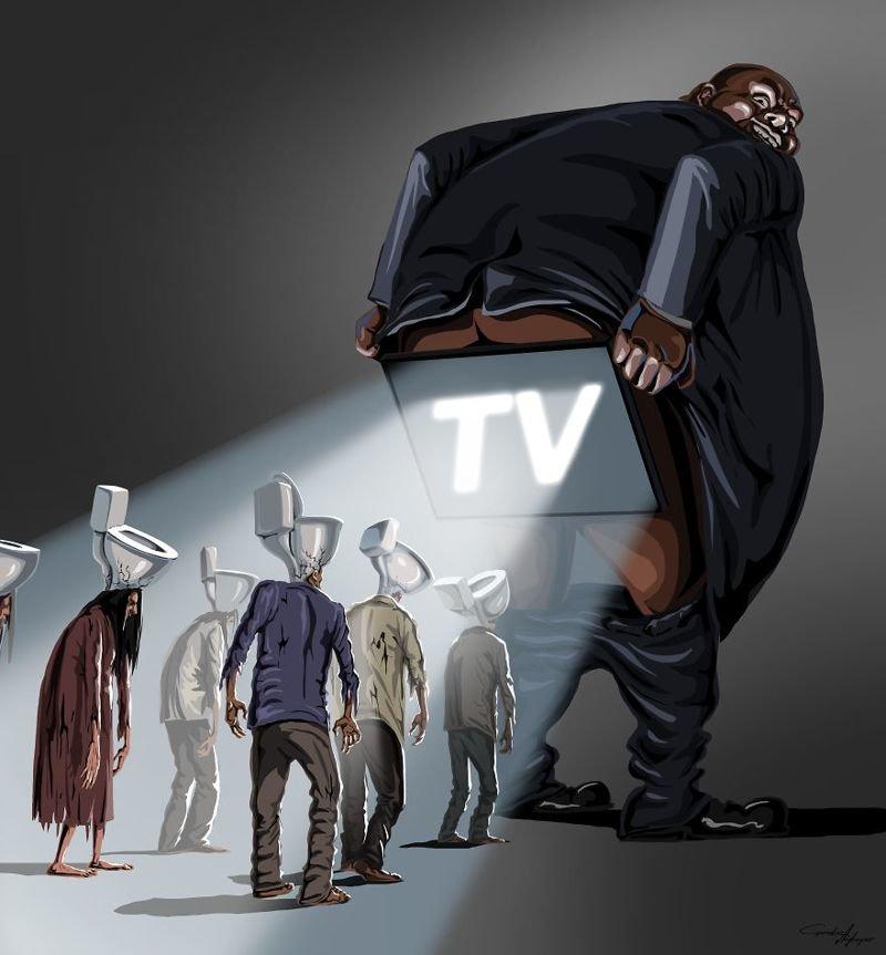 Потрясающие иллюстрации современных проблем от Гундуза Агаева