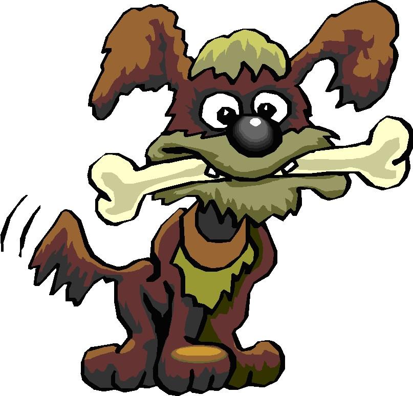 Картинки собака с косточкой для детей, картинки смешными