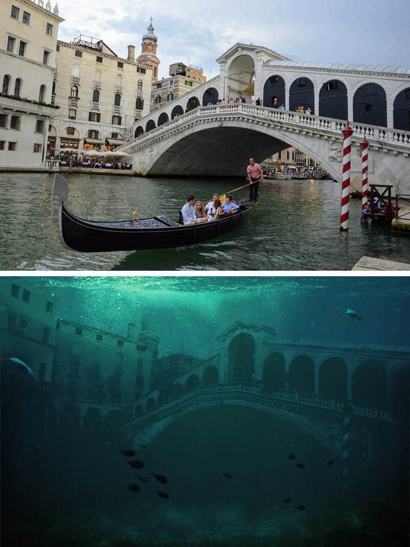 Как будут выглядеть наши любимые места после экологической катастрофы Путешествия,фото