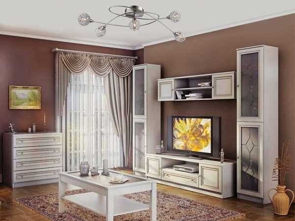 стенка в гостиную в современном стиле глянцевая, фото 17