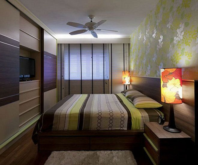 дизайн узкой спальни шкаф купе