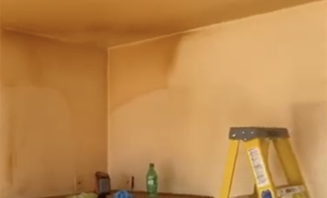 Строители показали стены квартиры курильщика. Ремонта не было 21 год: думали, что на стенах краска Культура