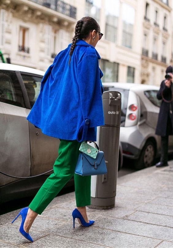 Как носить синий - самый модный цвет 2020 года фото №25