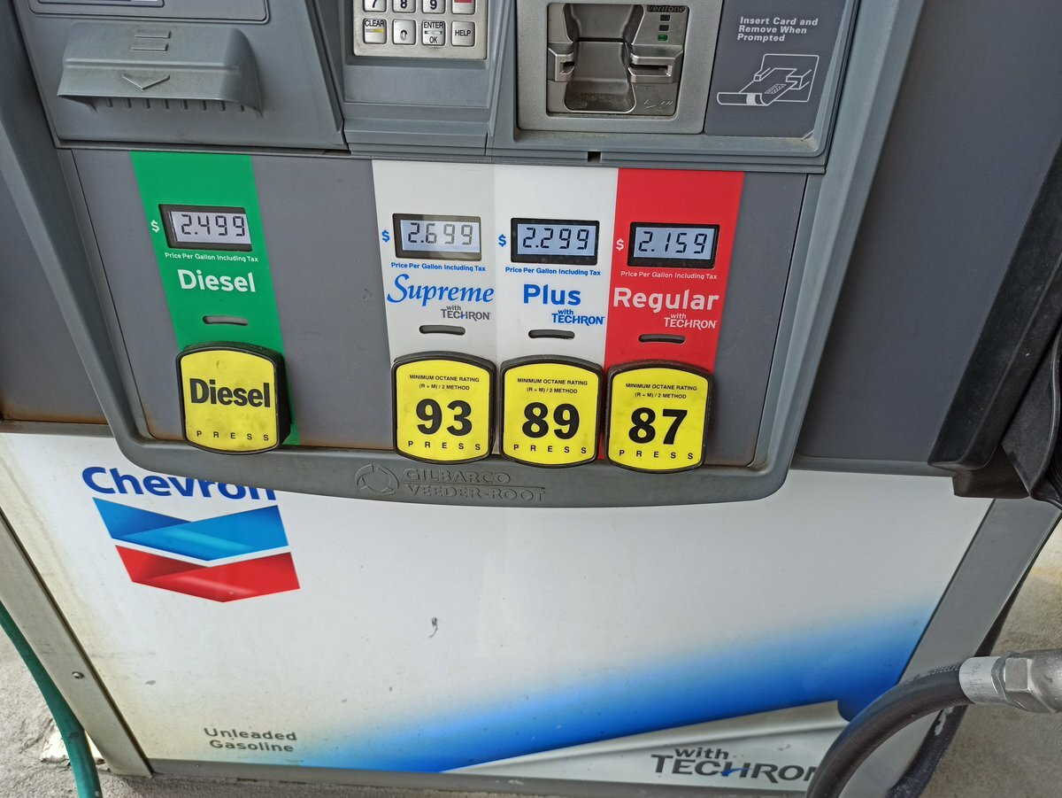 Почему бензин в США имеет октановое число не выше 93? Узнал у местного жителя авто,авто и мото,автосалон,водителю на заметку,машины,новости автомира,советы,тюнинг