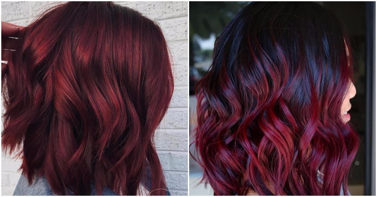 Волосы цвета глинтвейна — тренд сезона