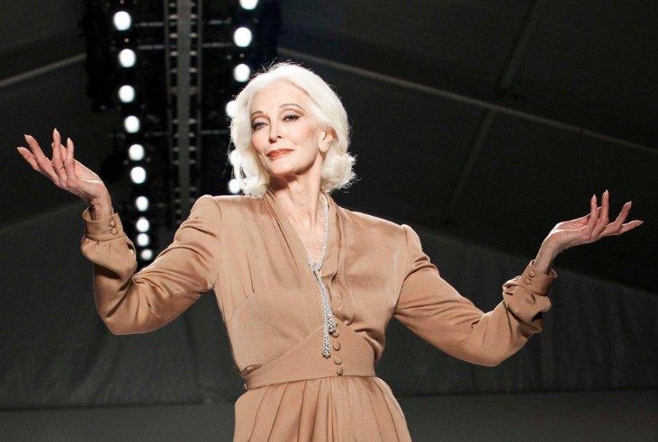 88-летняя популярная модель показала свои фотографии в молодости