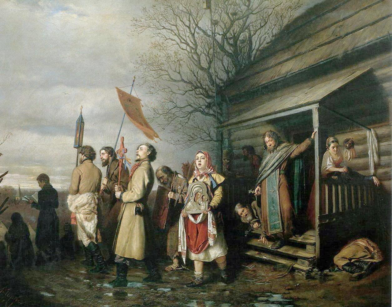 Сельский быт на Руси в картинах  Перова В.Г.  (1834 — 1882 гг.)