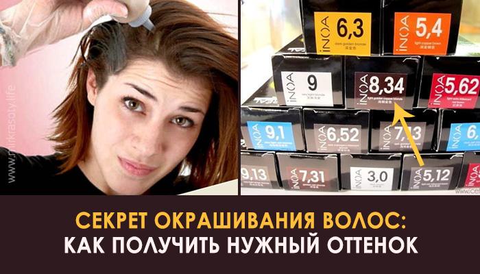 Научитесь красить волосы правильно! Вот что означают цифры на упаковке