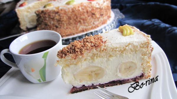 Торт с бананами