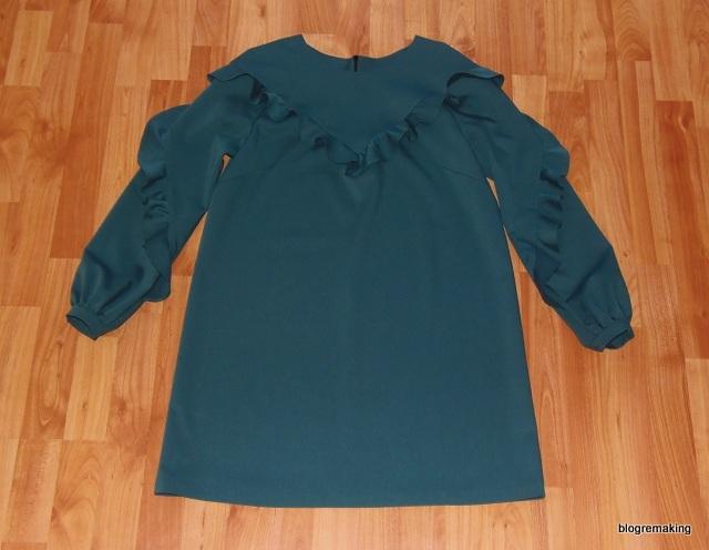 Технология пошива платья со спущенным плечом и кокеткой