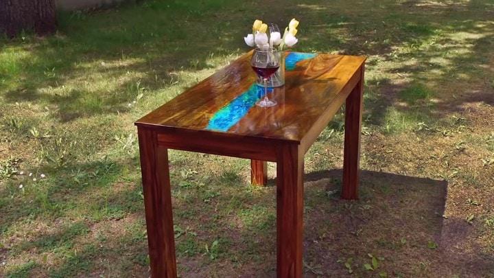 Вот так обычный деревянный стол становится необыкновенным интерьер,переделки,своими руками,сделай сам