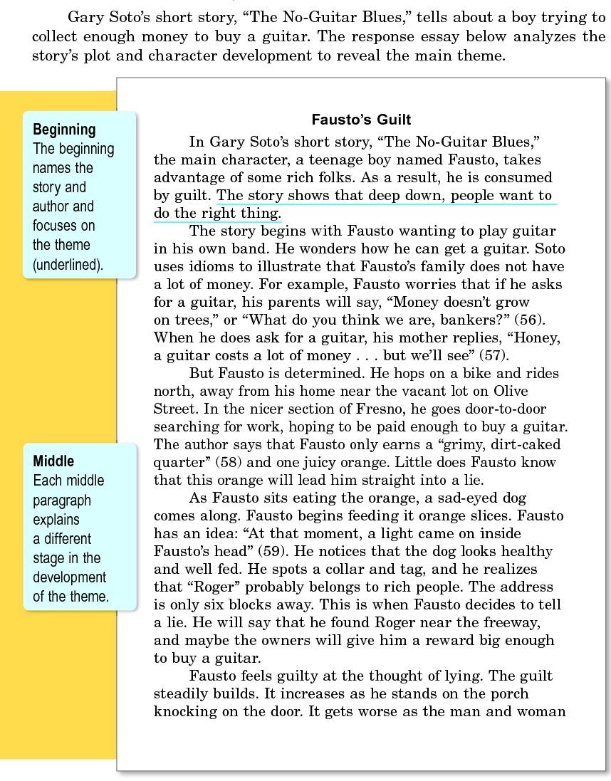 example of essay writting