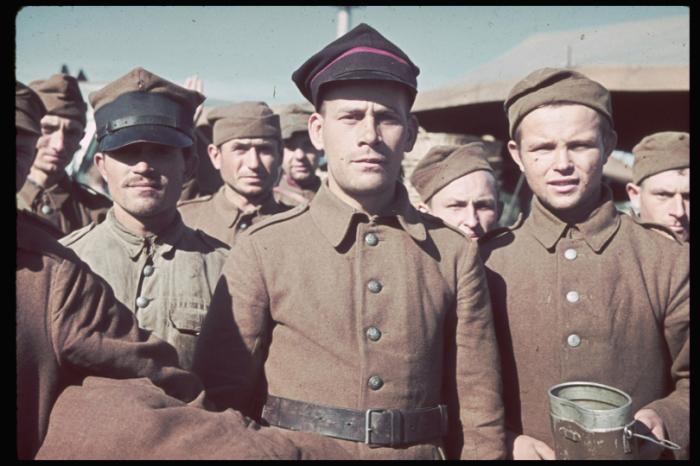 Пленные солдаты польской армии. Польша, 1939 год.