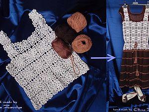 Из винтажного топа в современное платье: мастер-класс