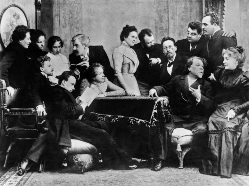 Антон Чехов с артистами Московского художественного театра, 1899 год, Россия история, картинки, фото