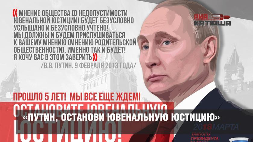 «Путин, останови ювенальную юстицию»
