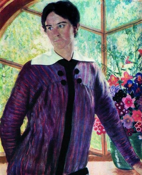 Юлия Кустодиева. (1909). Автор: Б.М.Кустодиев.