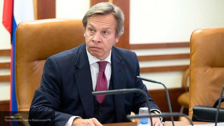 Пушков прокомментировал слова Зеленского о Крыме и назвал их риторической белибердой.