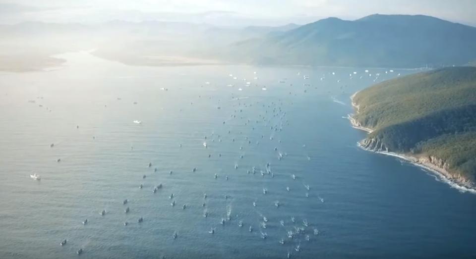 Сотни иностранных кораблей покидают бухту Ольга