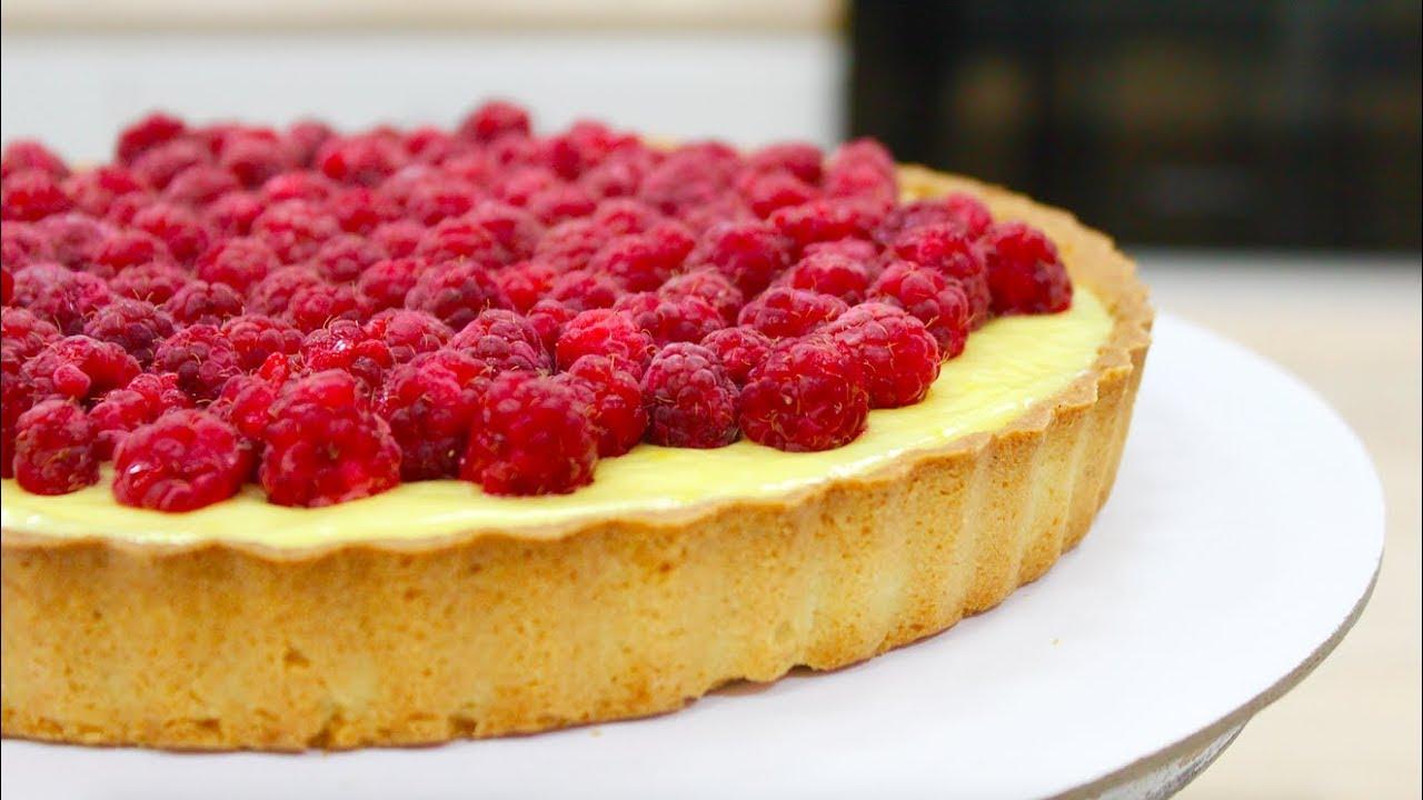 Самый вкусный малиновый тарт с заварным кремом выпечка,десерты,кулинария