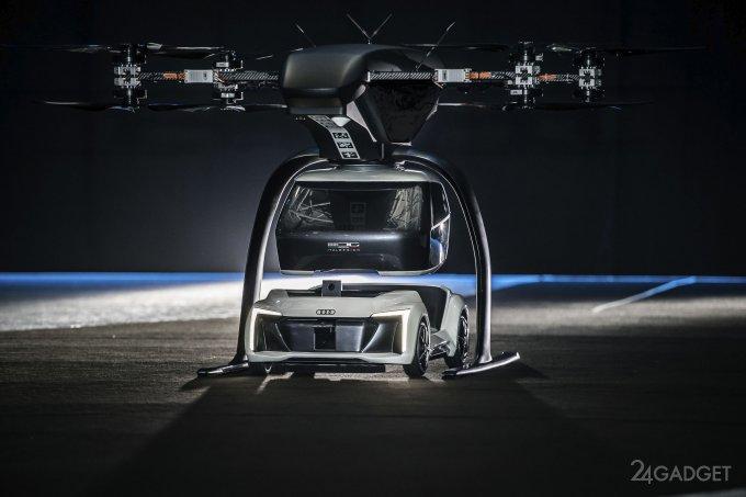 Возможности пассажирского гибрида машины и дрона показали публично