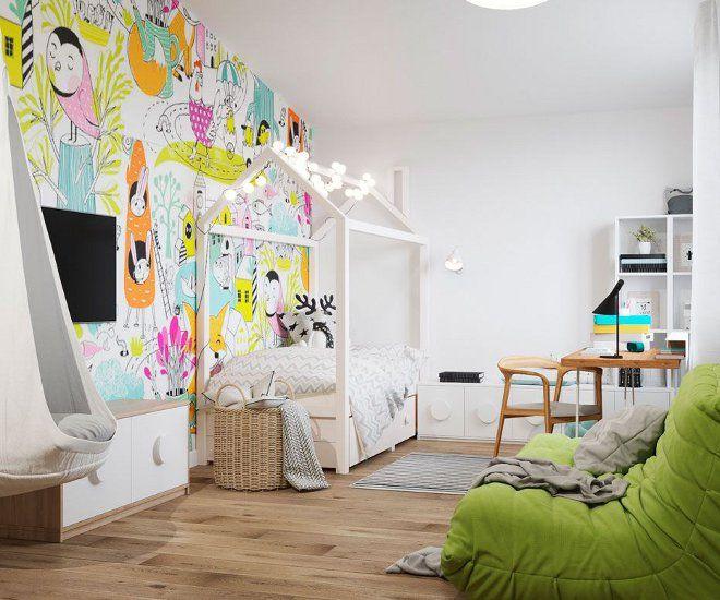 дизайн детской спальни мебель