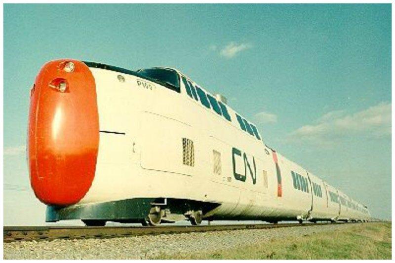 Канадский поезд с уникальным локомотивным носом вагоны, железнодорожные, изобретения, поезда, рельсы, факты, фантазии