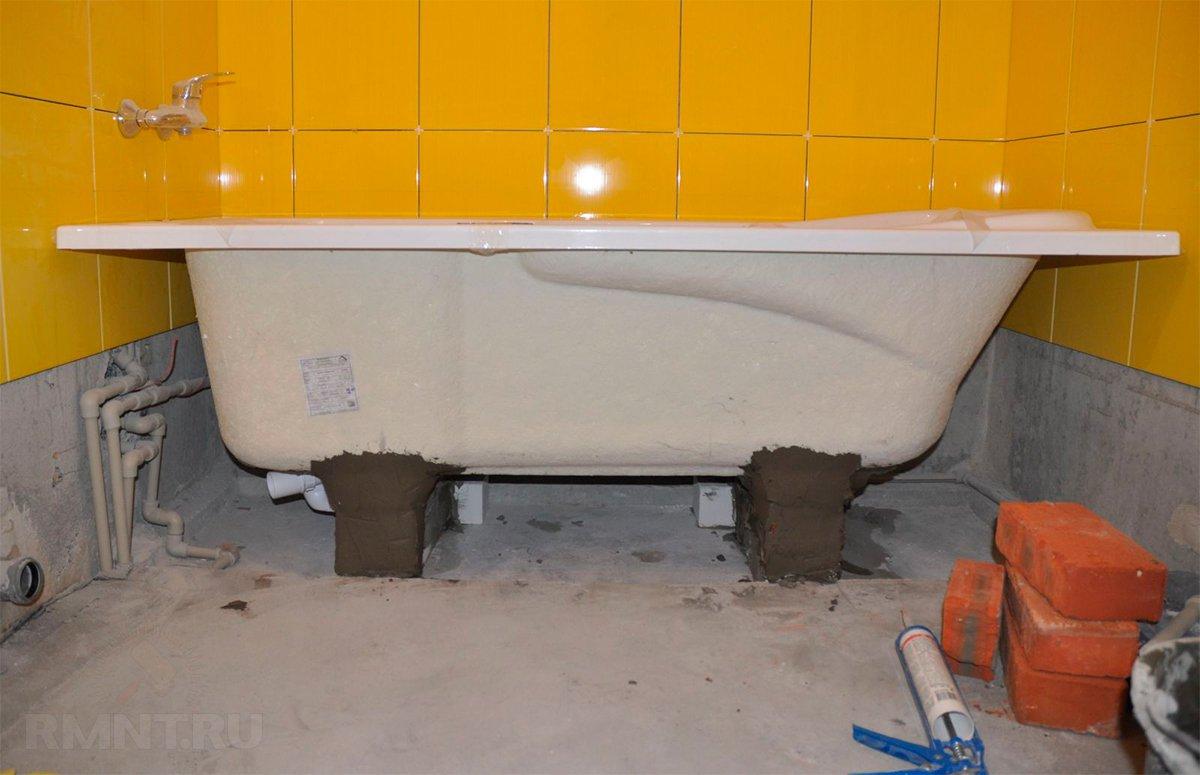 кирпичи под ванну